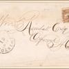 2c brown Post Horse & Rider single and bisect on cover