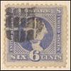 6c ultramarine Washington with G. Grill single