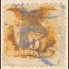 10c yellow Shield & Eagle with G. Grill