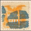 10c yellow Shield & Eagle with G. Grill single