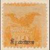 10c yellow Shield & Eagle specimen single