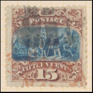 15c brown & blue Landing of Columbus Type I single