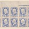 1c ultramarine Franklin plate block of twelve