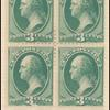 3c green Washington full imprint block of four