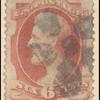 6c carmine Lincoln single