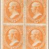 15c orange Webster block of four