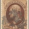 10c brown Jefferson single