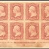 3c rose Washington imperforate block of 12