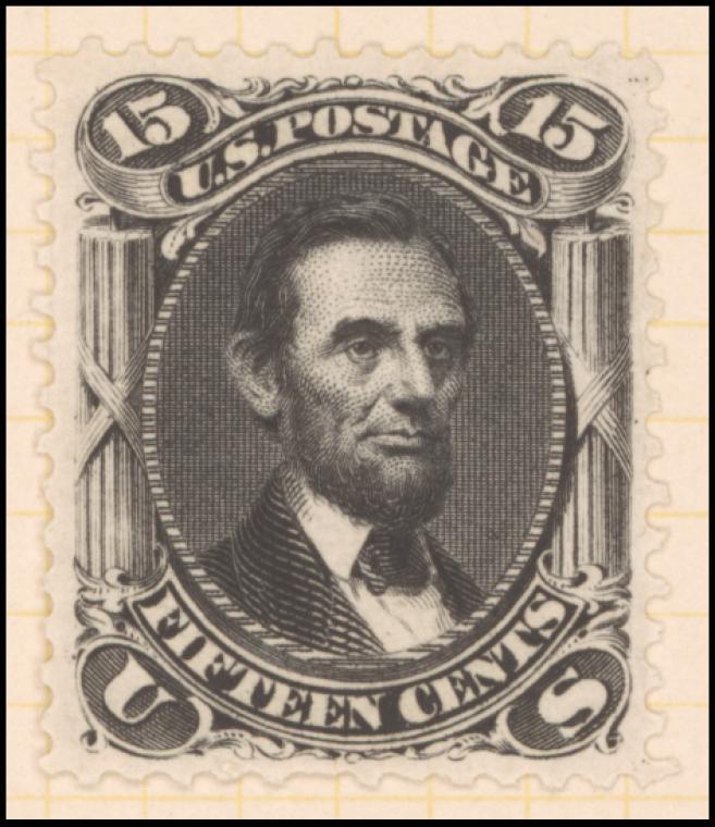 15c Lincoln reprint single