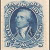 90c blue Washington reprint single