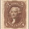 5c brown Jefferson reprint single
