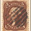 5c red brown Jefferson single