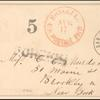 5c brown Jefferson single on cover
