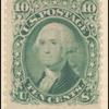 10c yellow green Washington single