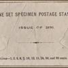 envelope to enclose 1875 special printing stamps photograph