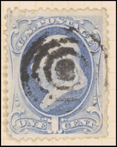 1c ultramarine Franklin single