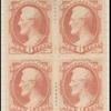 6c Lincoln dull pink block of four