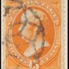 15c yellow orange Webster single