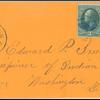 15c yellow orange Webster single on cover