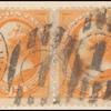 15c yellow orange Webster pair