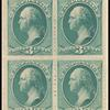3c blue green Washington block of four