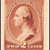 2c red brown Washington single
