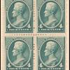 4c blue green Jackson block of four