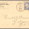 1c ultramarine Franklin pair on cover