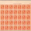 3c vermilion Washington imprint block