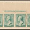 2c green Washington imprint strip