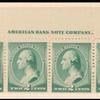 2c green Washington imprint strip