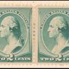 2c green Washington pair
