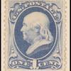 1c dark ultramarine Franklin single