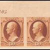30c orange brown Hamilton imprint horizontal strip
