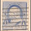 1c dull blue Franklin single