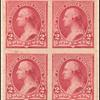 2c carmine Washington proof block of four