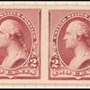2c lake Washington imperforate pair