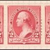 2c carmine Washington strip of three