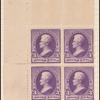 3c purple Jackson block of four