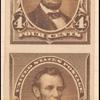 4c dark brown Lincoln imperforate pair