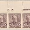 8c lilac Sherman imprint strip of five