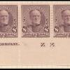 8c lilac Sherman imprint strip of seven