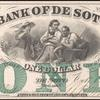 $1 green Bank of De Soto Webster banknote