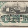 $1 green American Bank (Baltimore) Webster banknote