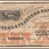 $10 Miners and Planters Bank Clay banknote