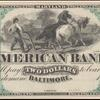$2 American Bank (Baltimore) Clay banknote