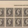 30c black Jefferson plate block of twelve