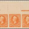90c orange Perry imprint strip of five