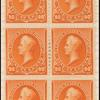 90c orange Perry block of six