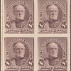 8c lilac Sherman proof block of four